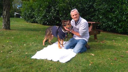 PC Dave Wardell after being reunited with PD Finn.
