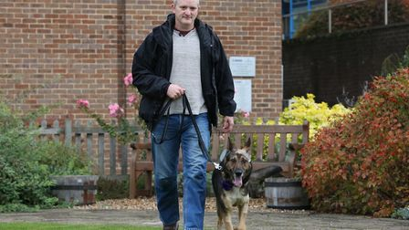 PC Dave Wardell and PD Finn back together after the incident in Stevenage.