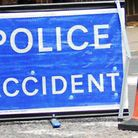 One lane is blocked between junctions 6 and 7 of the A1(M) this morning after a crash.