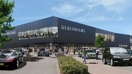 An image of what the Stevenage Debenhams store will look like when it opens in August