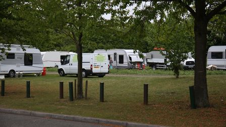 Travellers who pitched up in Letchworth on Works Road last week have now moved on.