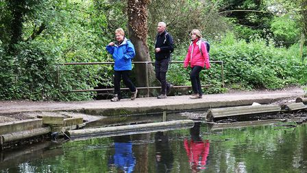Some members from the Hertfordshire Health Walks group in Charlton arrive back.