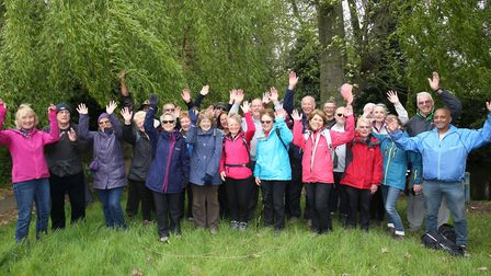 Some members from the Hertfordshire Health Walks group in Charlton.