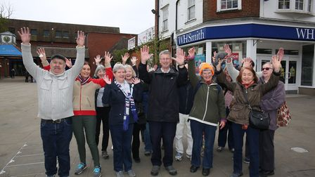 Some members from the two Hertfordshire Health Walks groups in Letchworth.