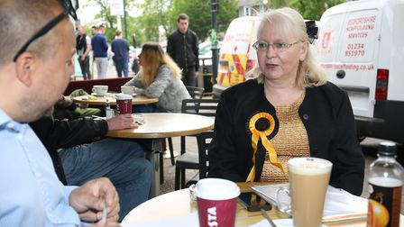 Monster Raving Loony Candiate for Mid Beds Ann Kelly speaks to The Comet's Layth Yousif. Picture: Da