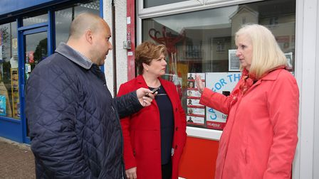 The Comet's Layth Yousif speaks to the shadow foreign secretary Emily Thornberry and Stevenage Labou