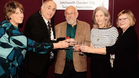 Alan Millard, pictured second from left at a Letchworth Garden City Twinning Association evening, is