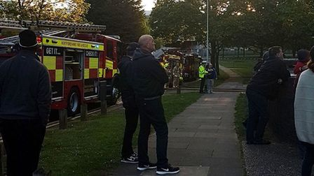People were evacuated from flats at High Plash yesterday evening