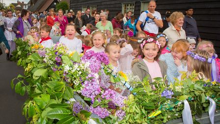 Ickwell's May Day celebrations. Picture: Darren Harbar