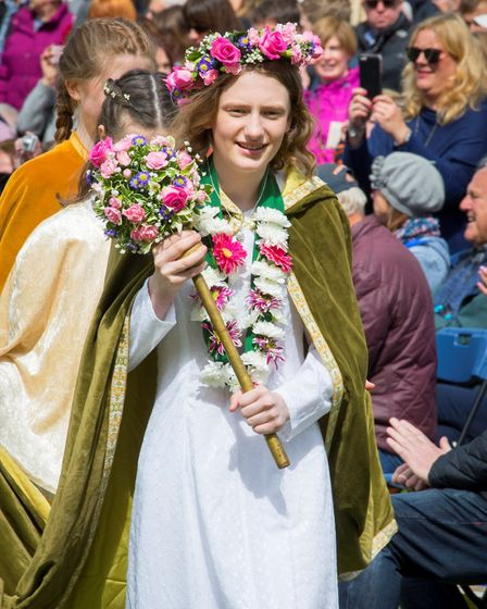 Ickwell May Queen Kayleigh Henegan. Picture: Darren Harbar