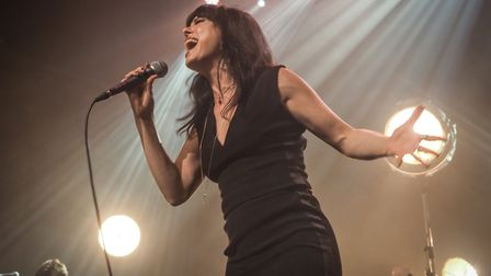 Imelda May on stage on night three of her LIFE. LOVE. FLESH. BLOOD tour Picture: Celia Bartlett