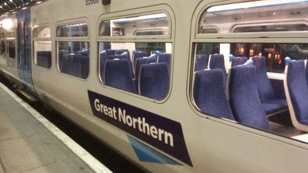 Commuters were left confused as two train timetables giving different information were both availabl