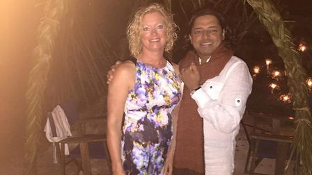 Dr Shiv Sekaran with his wife Melissa. Photo: Supplied