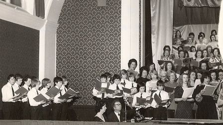 A Hitchin Boys' School choir performance of Carmina Burana with Hitchin Thespians in 1976. Picture:
