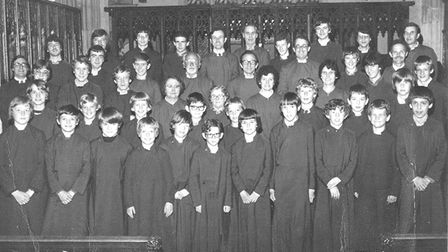 The St Mary's Church choir around 1980. Picture: Courtesy of St Mary's Church choir reunion