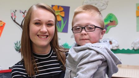 Baldock mum Jen Carter with four-year-old Jacob, who has Hurler syndrome. Picture: Keech Hospice Car