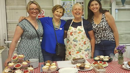 Sue Ngwala, second from right, and the team at the Great Get Together in Letchworth on Saturday. Pic
