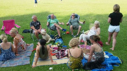 Families from around Pinehill Field in Hitchin enjoy the Great Get Together on Saturday, in memory o