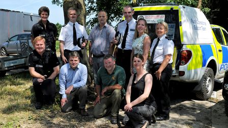 Some of the attendees of the rural crime meeting in Royston. Picture: Herts police