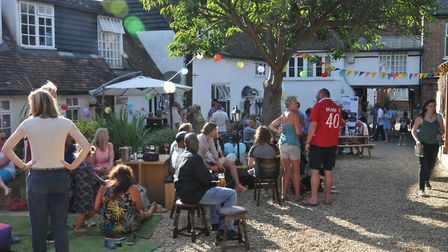The first-year celebrations at Khoi Khoi Bar & Vino in Baldock. Picture: JP Asher