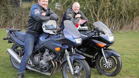 Father-in-law and son-in-law Keith Bartlett and Ben Smither are biking over 900 miles for charity