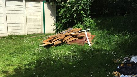 Fly-tipping on Hitchin scouts property