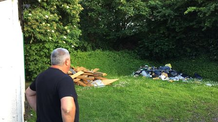 Fly-tipping is escalating in Hertsmere.
