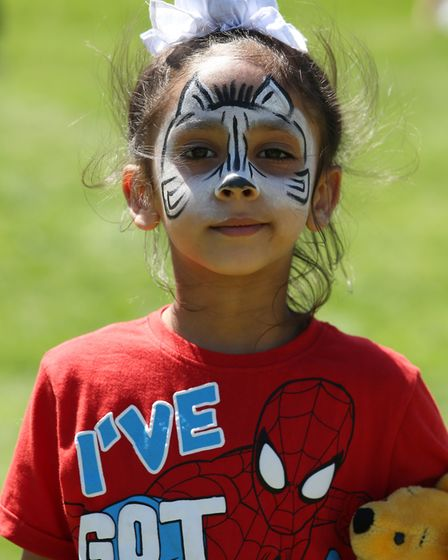 Prem Singh Lidder, 4 with his face painted at the William Ransom summer fete. Picture: Danny Loo
