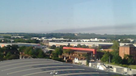 Smoke from the fire at Grenfell Tower in west London was visible from Stevenage at 7am this morning.