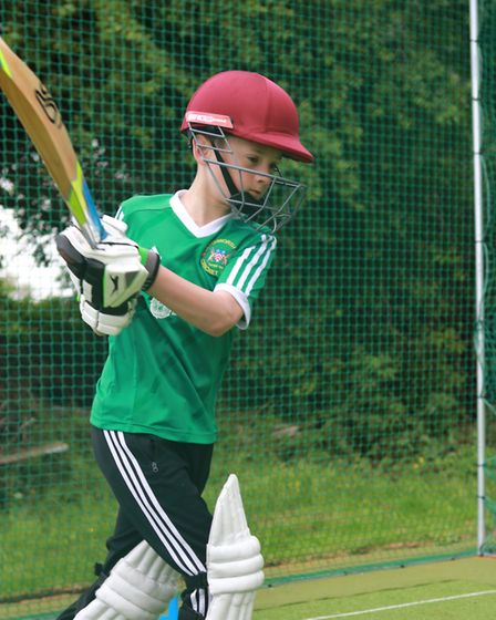 A young batsman using the new nets at Letchworth Garden City Cricket Club. Picture: Richard Kingsbur