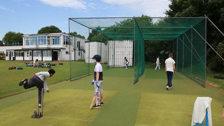 Using the new nets at Letchworth Garden City Cricket Club. Picture: Richard Kingsbury