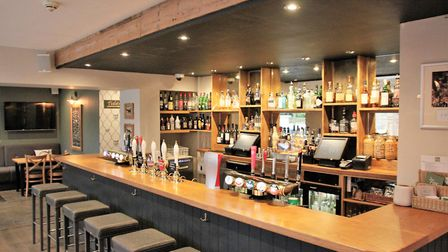 The 'locals bar' at the Fox at Willian