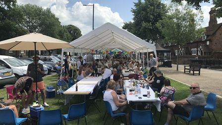 The Baldock Big Lunch on Sunday. Picture: Paul Calver