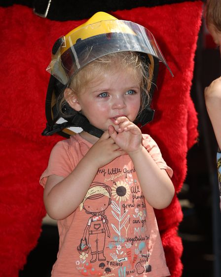 Lottie Cole, 2 at Hitchin Fire Station Open Day. Picture: Danny Loo