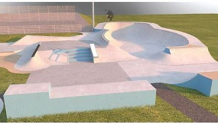 How the revamped Norton Common skate park in Letchworth is set to look. Picture: North Herts Distric
