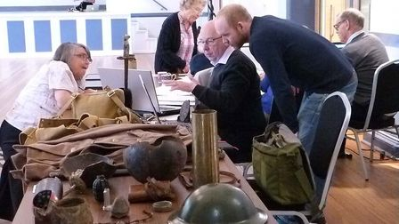 There has been a World War One event at Hitchin Town Hall