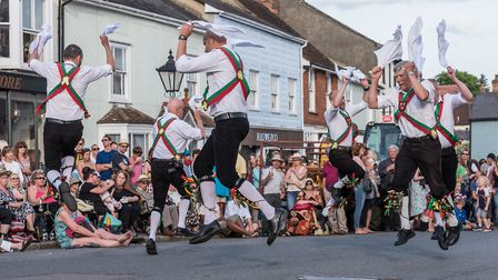 Thaxted Morris Dancing on June 3. Picture: SAFFRON PHOTO
