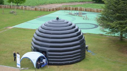 Scientists from the University of Hertfordshire will be bringing their inflatable planetarium to the