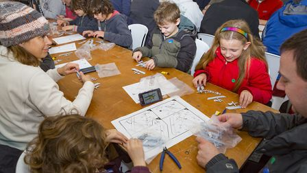People of all ages took part in the successful record attempt at the Shuttleworth Collection.