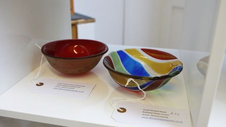 Some of the work at the Artisan Ladder pop-up shop. Picture: Karyn Haddon.