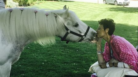 Lucy the pony has been reunited with Tracey Plumb. Picture: Sue Ryder St John's Hospice