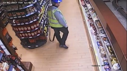 Police want to speak to this man after foul smelling liquid was poured over the floors of two Polish