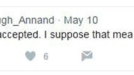 Hugh Annand tweets he is 'officially offical'