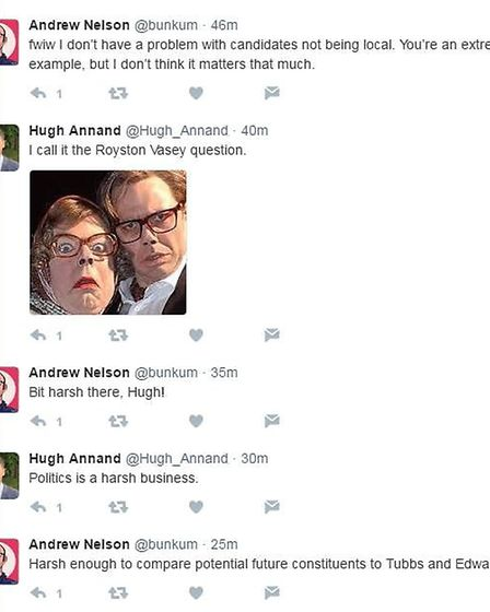 Hugh Annand makes a pointed League of Gentlemen reference...