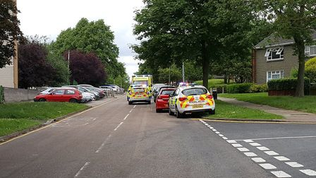 The scene in Stevenage's Silam Road. Picture: Andy Owen