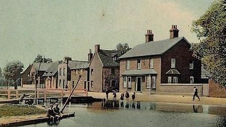 An old postcard of the Sailor Boy, Hitchin.