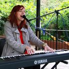 Jo Eden performing. Picture: Uttlesford Citizens Advice