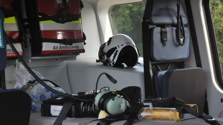Inside the new Essex & Herts Air Ambulance. Picture: JP Asher