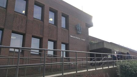 Peterborough Magistrates' Court, where Det Con Jamal Hassan appeared on Saturday charged with making