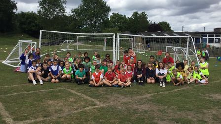 The Ultimate Dodgeball Tournament at St Mary's Junior School in Baldock in aid of the British Heart